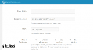 Como crear un blog en wordpress.com 3