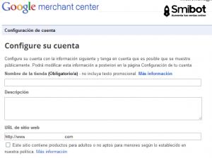 Como crear una cuenta en Merchant Center