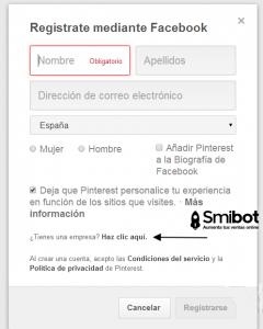 Como crear un perfil en Pinterest 4