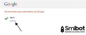 Como dar de alta mi tienda en las herramientas para webmasters de google