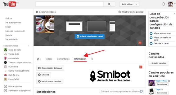 Cómo personalizar el canal de YouTube 4