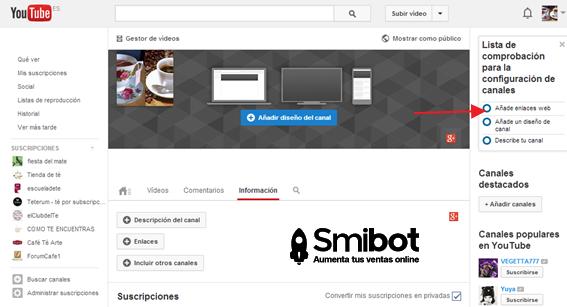 Cómo personalizar el canal de YouTube 6