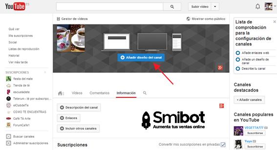Cómo personalizar el canal de YouTube 7