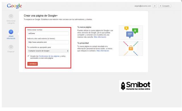 Como crear un perfil de empresa en Google Plus 10