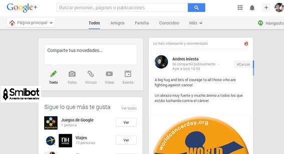 Como crear un perfil de empresa en Google Plus