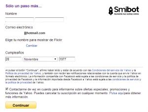 Como crear un perfil en Flickr 3