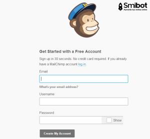 Como crear una cuenta en MailChimp 2