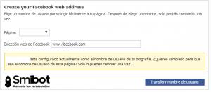 Como personalizar la URL de mi página de Facebook 1