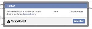 Como personalizar la URL de mi página de Facebook 2