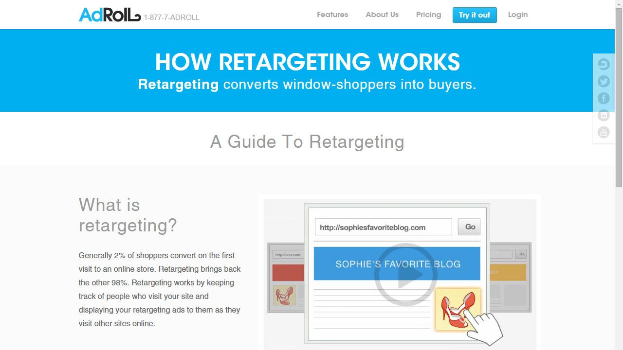 Como hacer campañas remarketing con Adroll Retargeting