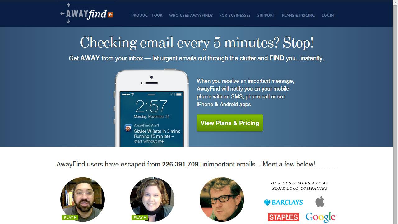 Como saber si un correo es importante con AwayFind