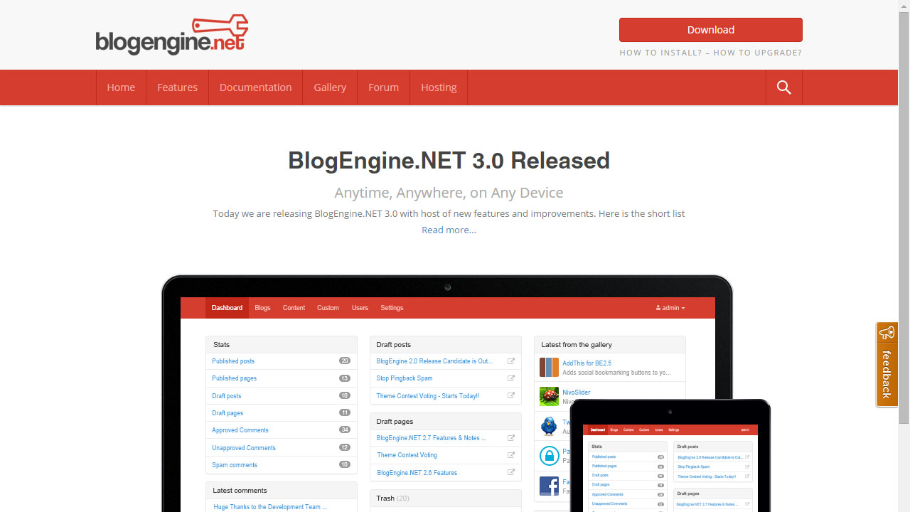 Crear un CMS con BlogEngine.NET