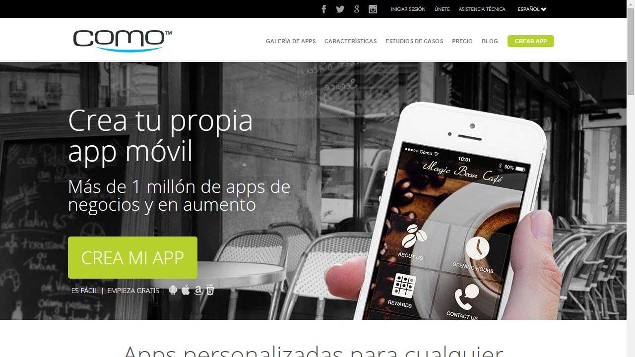Crear una app para dispositivo móviles con Como