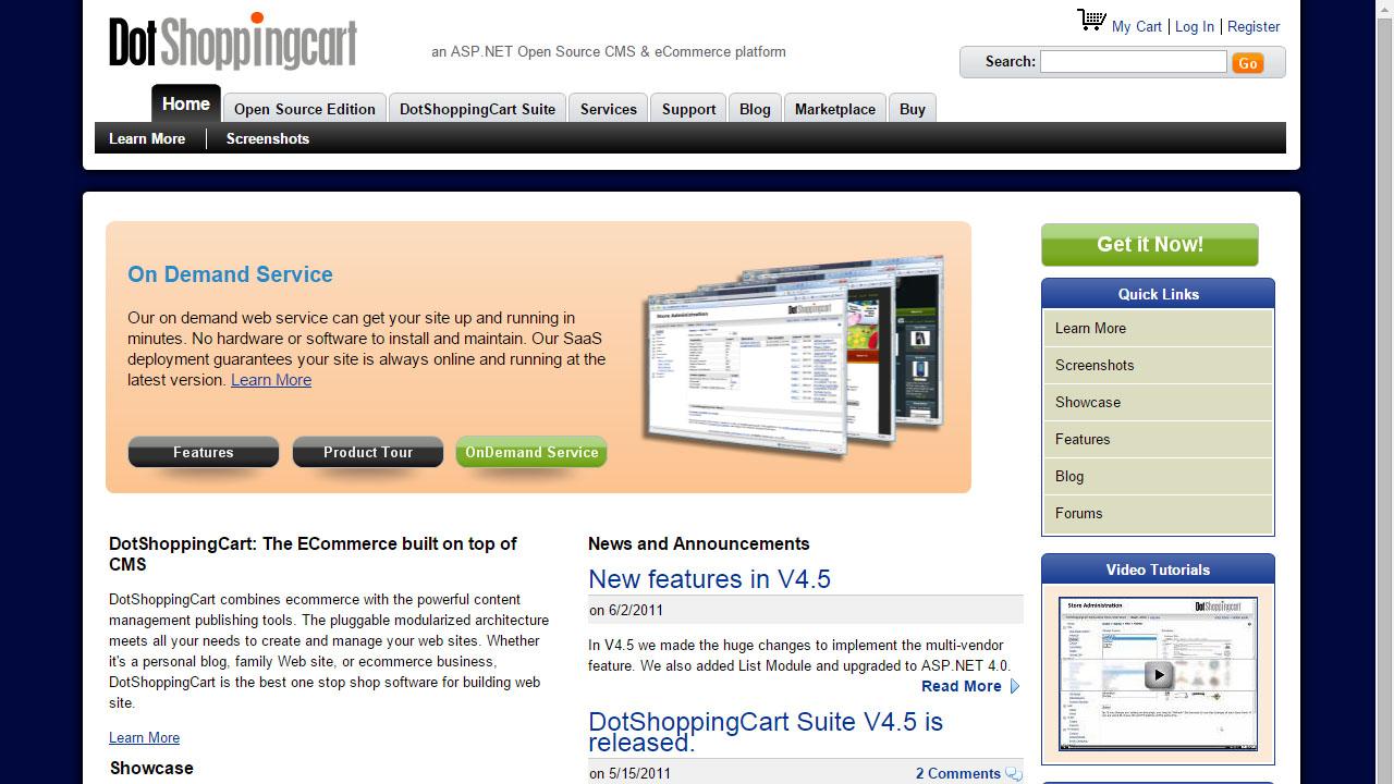 Como crear una tienda online con DotShoppingCart