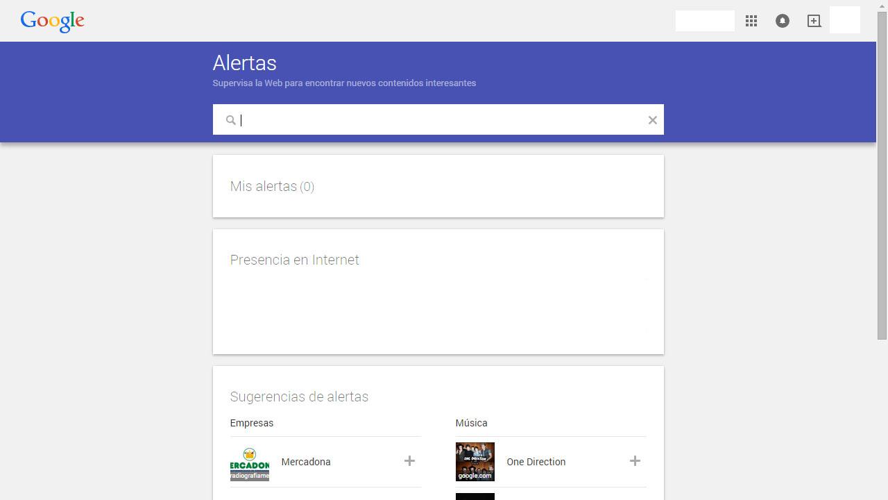 Como recibir alertas de contenido con Google Alerts