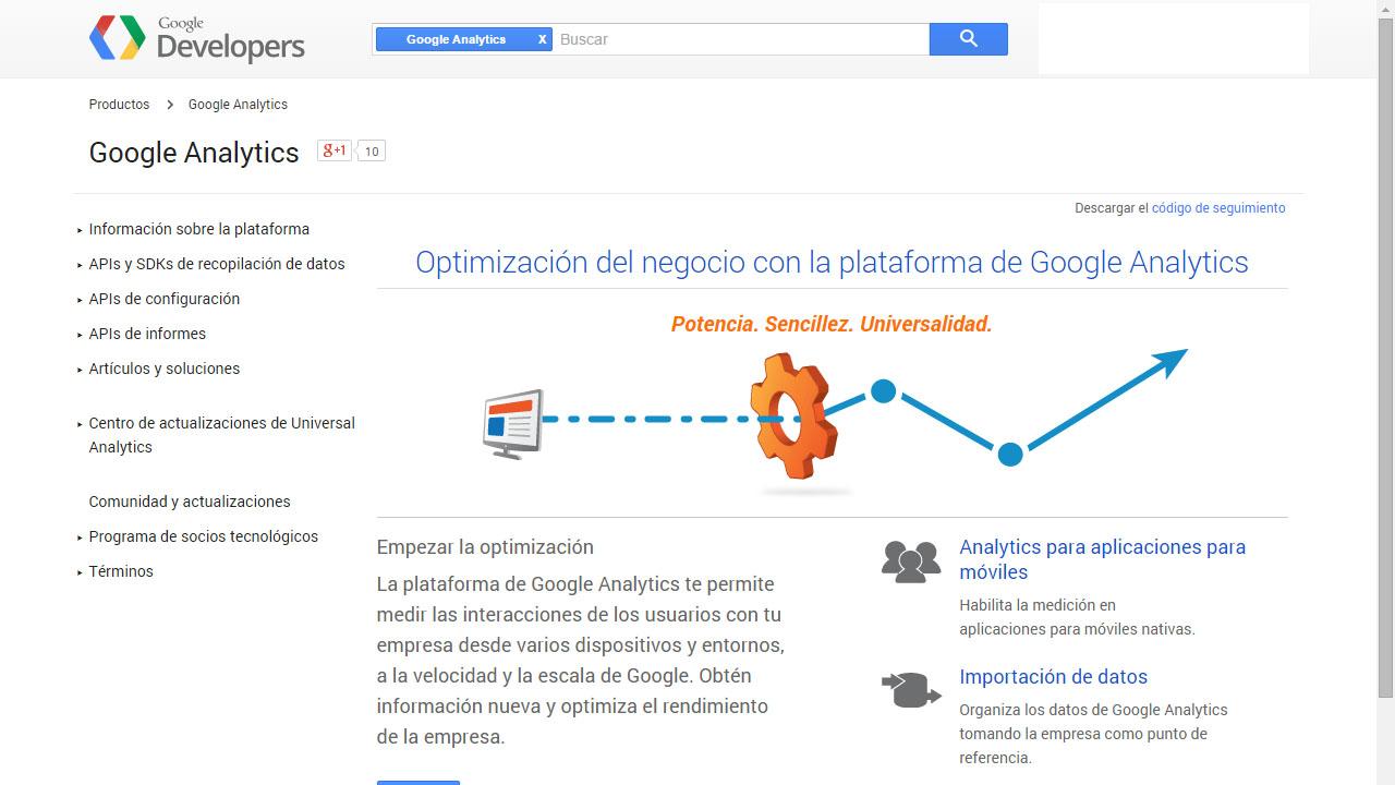 Como medir interacciones del usuario con la API de Google Analytics