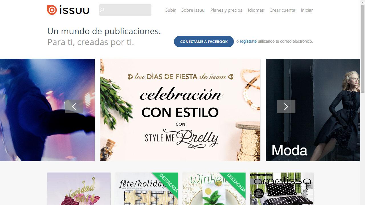 Como ver libros y revistas online con Issuu