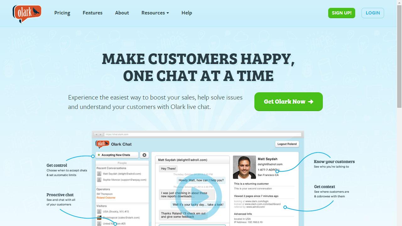 Como comunicarte con tus clientes con Olark