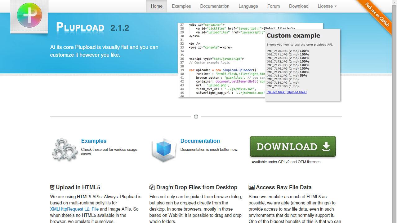 Como subir archivos a tu servidor con Plupload