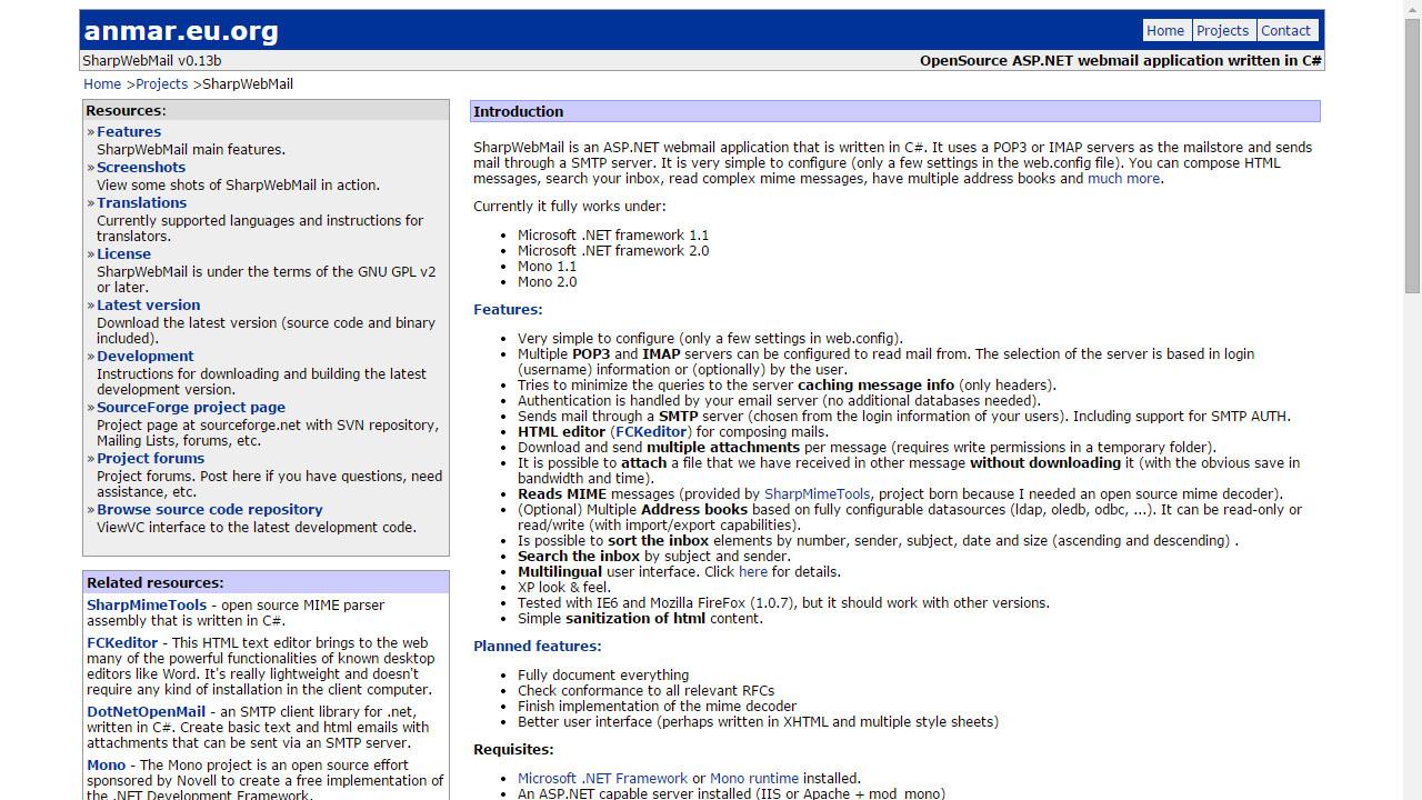 Como ver el correo con SharpWebMail