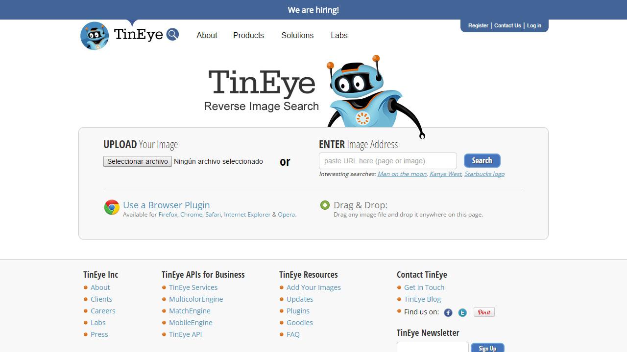 Como buscar imágenes duplicadas con TinEye