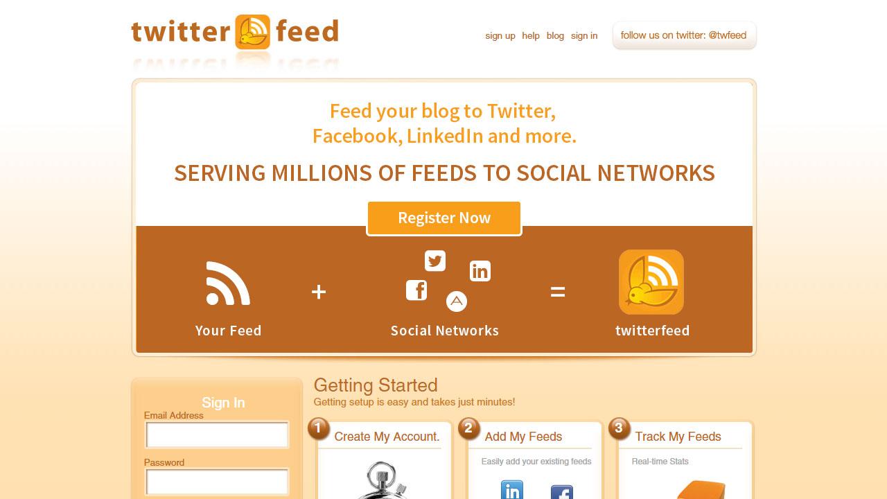 Como publicar post automaticamente en redes sociales con TwitterFeed