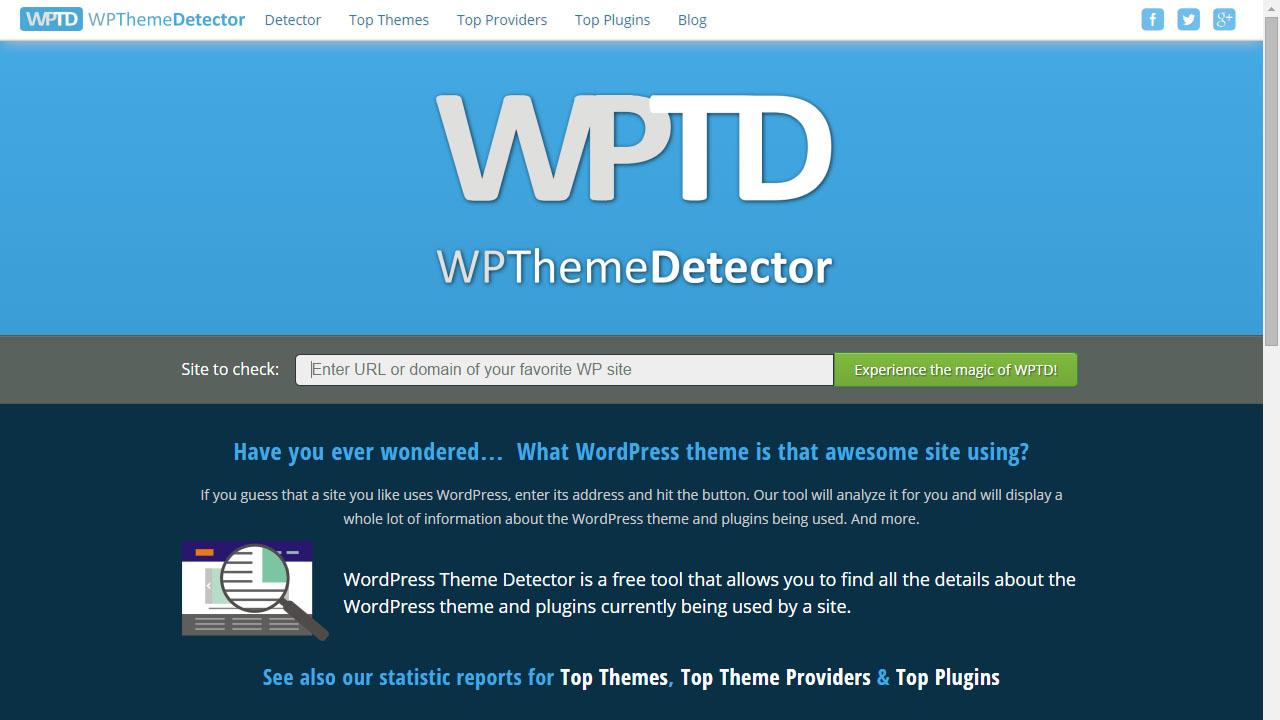 Como saber que tema usa un blog WordPress con WPThemeDetector