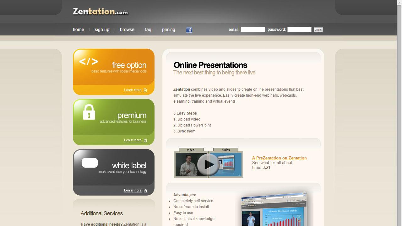 Como unir un video y una presentación con Zentation