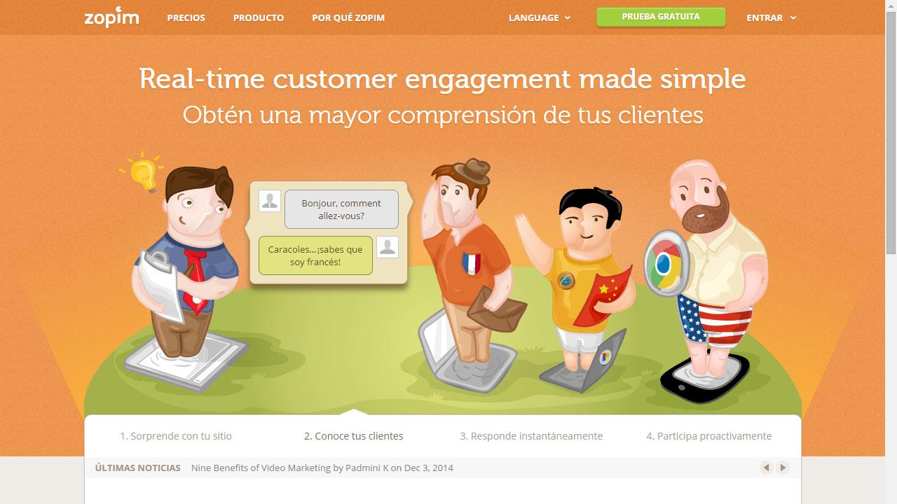 Como comunicarse con nuestros clientes con Zopim