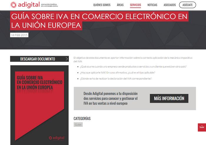 Guía sobre IVA en comercio electrónico en la Unión Europea   Adigital