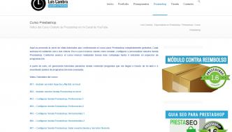 Curso Creación Tienda Online Con Prestashop Gratis en luiscambra.com