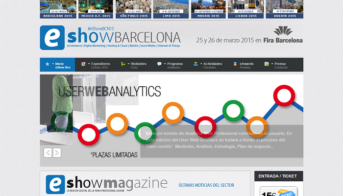 Otro año mas llega eShow a Barcelona el 25 y 26 de marzo