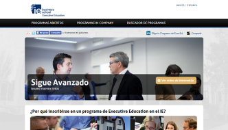 Programas de formación digital del IE Bussiness School