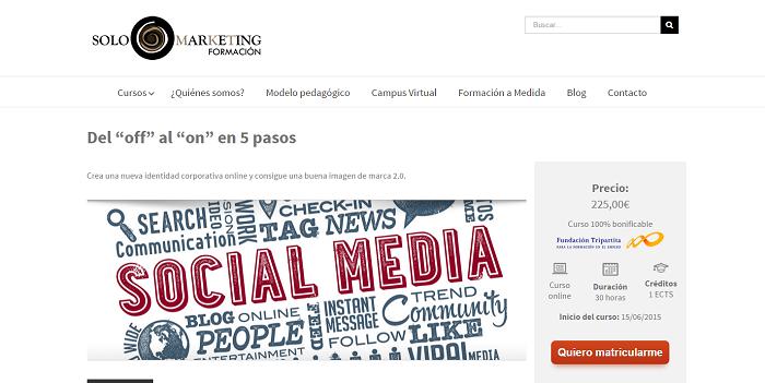 Solomarketing organiza cursos de marketing digital para el sector turístico