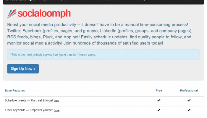 Socialoomph, una herramienta potente para analizar los resultados de tu tienda online en Facebook y Tweeter