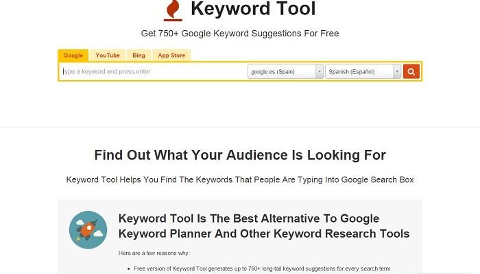 Keywordtool, una herramienta para buscar palabras clave